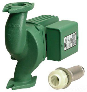 """Taco 0012-F4 1-1/2"""" X 1-1/2"""" Flangedxflanged 52Gpm 1/8Hp 115V 3250Rpm Cast Iron Cartridge Style In-Line Circulator Pump"""