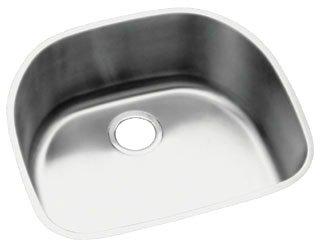 "Elkay ELUH2118 Lustertone Classic 18 Gauge Stainless Steel 23.625"" x 21.25"" x 7.5"" Single Bowl Undermount Kitchen Sink in Lustrous Satin"