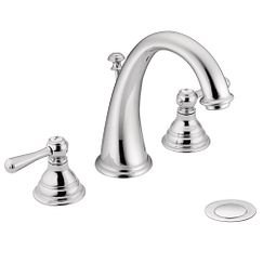 "Moen T6125 Kingsley 8"" Widespread Two Handle High-Arc Bathroom Faucet Trim Kit in Chrome"