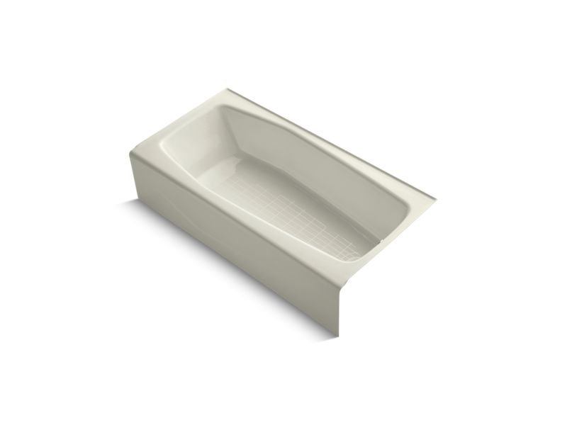 "Kohler K-716-96 Villager 60"" x 30"" Alcove Bath with Integral Apron and Right-Hand Drain in Biscuit"