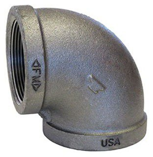 """Fig 310001201 1"""" X Fptxfpt 300Psi Malleable Iron 90D Elbow"""