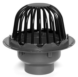 """Oatey 78026 6"""" Socket Pvc Bottom Outlet Roof Drain W/Cast Iron Dome"""