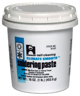 Hercules Climate 10621 1Lb Bucket Amber To Brown Soldering Paste