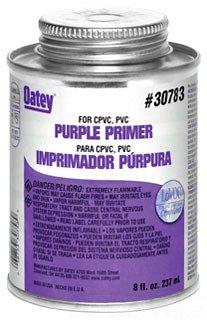 Oatey 30783 8Oz Can Purple Pvc/Cpvc Primer