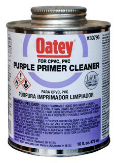 Oatey 30796 16Oz Can Purple Pvc/Cpvc Primer