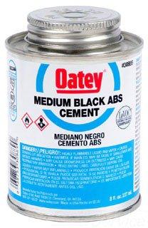 Oatey 30889 8Oz Can Black Medium Solvent Cement