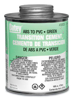 Oatey 30925 16Oz Can Green Medium Solvent Cement