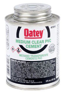 Oatey 31018 8Oz Can Clear Medium Solvent Cement