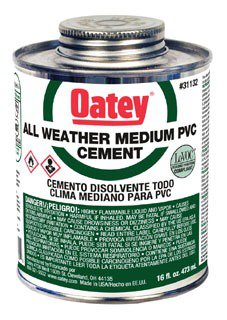 Oatey 31132 16Oz Can Clear Medium Solvent Cement