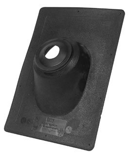 """Oatey No-Calk 11908 1.25"""" To 1.5"""" 45D Pitch Black Thermoplastic Standard Roof Flashing"""