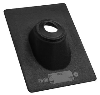 """Oatey No-Calk 11910 3"""" 45D Pitch Black Thermoplastic Standard Roof Flashing"""