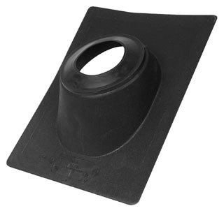 """Oatey No-Calk 11911 4"""" 45D Pitch Black Thermoplastic Standard Roof Flashing"""