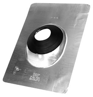 """Oatey No-Calk 12959 4"""" 0 To 40D Pitch Stamped Aluminum Standard Roof Flashing"""