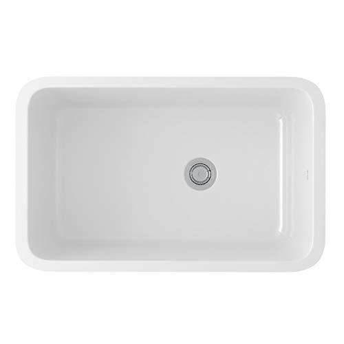 "Rohl Allia 6307-00 31-5/8"" X 19-5/8"" X 11"" White Fireclay 1-Bowl Reversible Kitchen Sink"