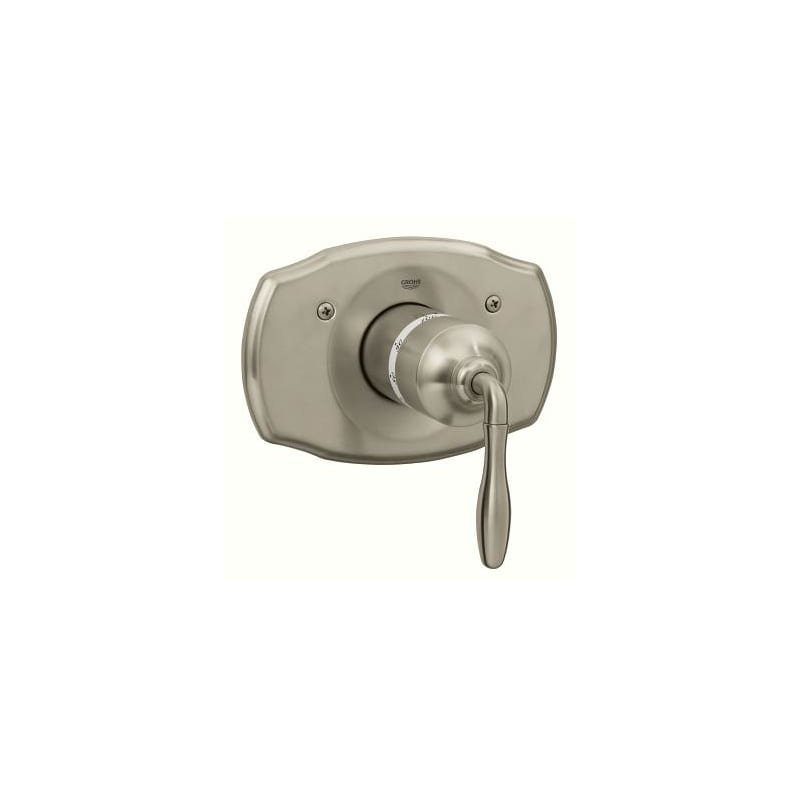 Grohe 19614  Seabury Thermostatic Valve Trim Grohtherm with Metal Lever Handle in Brushed Nickel