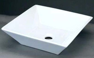 "Ronbow  CB5005 16-1/4"" X 16-1/4"" X 5-1/8"" White Ceramic 1-Bowl Bathroom Sink"