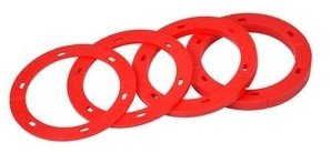 "Oatey Set-Rite 43406 1/8"", 1/4"", 1/2"", 3/4"", Red, 4-Spacer, Toilet Flange Spacer Kit"