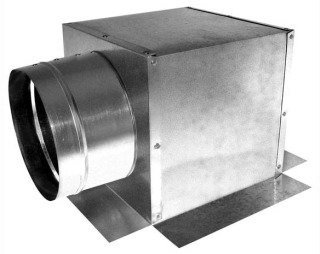 """Southwark  177S_8x8x7 7"""" X 8"""" X 8"""" Sheet Metal Register Duct Ceiling Outlet Box"""
