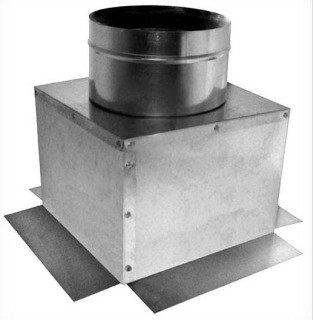 """Southwark  177_8x8x5 5"""" X 8"""" X 8"""" Sheet Metal Register Duct Ceiling Outlet Box"""