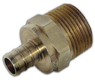 """Watts 653024 1/2"""" X 1/2"""" Crimpxmpt Brass Adapter"""
