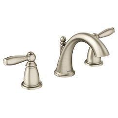 """Moen T6620 Brantford 8"""" Widespread Two Handle Bathroom Faucet Trim Kit in Brushed Nickel"""