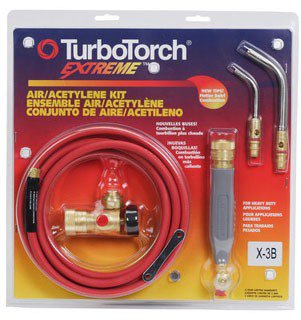 """Turbo Torch 0386-0335 3/16"""" Or 7/16"""" Brazing/Soldering Air Acetylene Standard Torch Kit"""