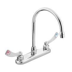 Moen 8289 M-Dura Chrome Two Handle Kitchen Faucet