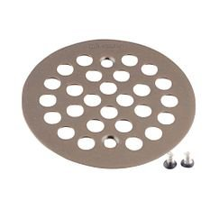 "Moen 101664 4 - 1/4"" Round Shower Drain Cover with Exposed Screw Installation in Oil Rubbed Bronze"