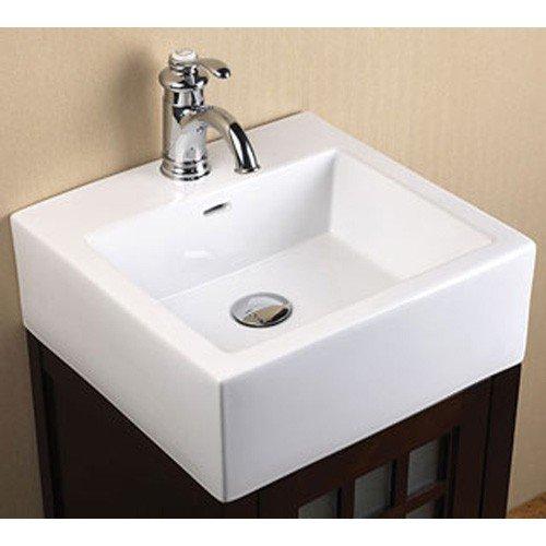 "Ronbow  CB3071 17-3/4"" X 17"" X 6-1/2"" White Ceramic 1-Bowl Bathroom Sink"