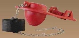 Fluidmaster Microban PRO55 Red Metal Heavy-Duty Universal Toilet Flapper