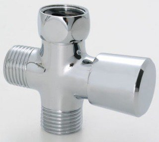 "Jaclo 2699-PCH 2-1/4"" X 2-3/4"" Chrome Brass Push/Pull Hand Shower Diverter"