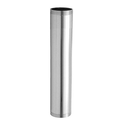 "Jaclo 4237-SN 1-1/4"" X 12"" 17 Gauge Satin Nickel Brass Npt Tubular Drain Extension Tube"