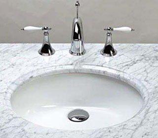 "Ronbow  CB4013WH 19-1/2"" X 16-1/8"" X 7-7/8"" White Ceramic 3-Hole 1-Bowl Bathroom Sink"