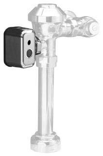 Zurn PEMS6000-HYM-IS Chrome Metal Hardwired Automatic Sensor Toilet Flush Valve Actuator
