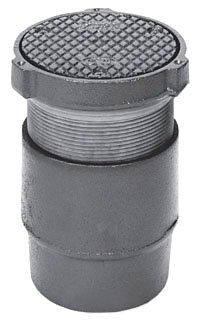 """Zurn ZN1400-4NH 4"""" No Hub Dura Coated Cast Iron Adjustable Floor Cleanout"""