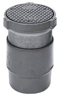"Zurn Z1400-4NH 4"" No Hub Dura Coated Cast Iron Adjustable Floor Cleanout"
