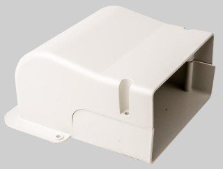 """Diversitech Speedichannel 230-WC6 6"""" Natural Pvc Ductless Air Conditioner System Wall Penetration Cover"""