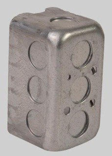"Diversitech Devco PI361 4"" X 2-1/8"" Galvanized Steel Utility Outlet Box"