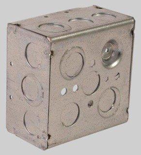 "Diversitech Devco PI362 4"" X 1-1/2"" Galvanized Steel Utility Outlet Box"