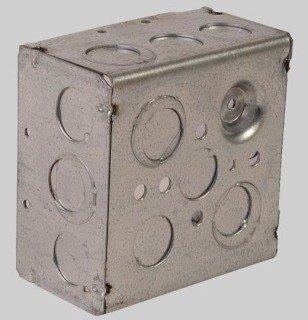"Diversitech Devco PI363 4"" X 2-1/8"" Galvanized Steel Utility Outlet Box"