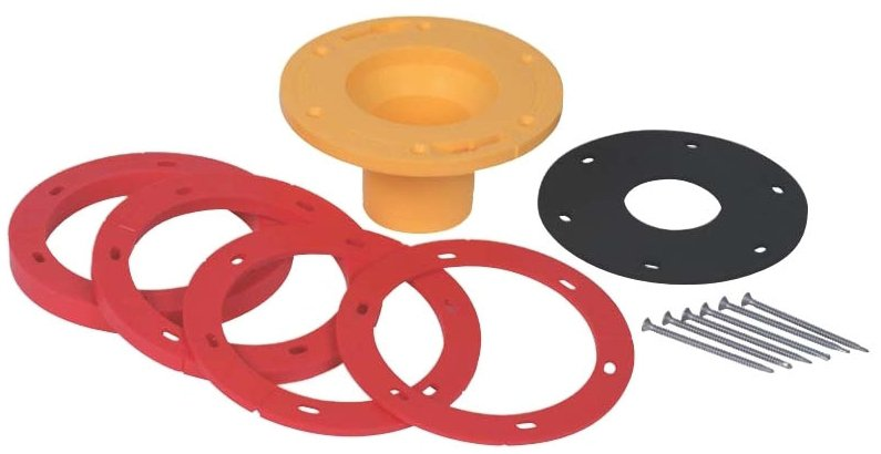 "Oatey Set-Rite 43400 1/4 To 1-5/8"", Toilet Flange Extension Kit W/Extender, Spacer, Gasket And Self-Tapping Screw"