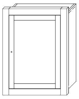 "Ronbow  MCB2533-H01 24-7/16"" X 5"" X 32-7/16"" Dark Cherry Recessed Bathroom Medicine Cabinet"