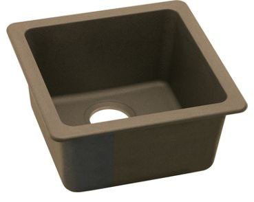 Elkay ELG1515MC0 Gourmet E-Granite Universal Mount Sink, Mocha, Single-Bowl