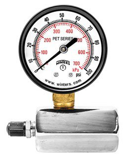"""Winter PETG201 3/4"""" Fpt 15Psi/Kpa 2"""" Dial Differential Gas Test Gauge"""