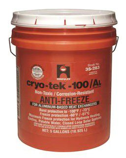 Hercules Cryo-Tek-100 35283 5Gallon 7 To 8.5Ph Propylene Glycol Anti-Freeze
