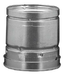 """MetalFab 4RP4 4"""" X 4.5"""" 4' Lock Ring Aluminum/Steel Gas Vent Pipe"""