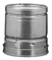 """MetalFab 4RP12 4"""" X 4.5"""" 12"""" Lock Ring Aluminum/Steel Gas Vent Pipe"""