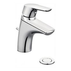Moen 66810 Chrome Single Handle Single Hole Bathroom Faucet with from the Method Collection