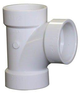 "Fig K098300 2"" X 1-1/2"" Hubxhubxhub 2000Psi Pvc Sanitary Reducing Tee"
