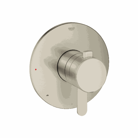 Grohe 19881  Europlus 6 3/4 Inch Dual Function Pressure Balance Trim with Control Module in Brushed Nickel